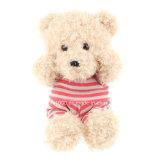 Venda por atacado do brinquedo do luxuoso do urso da peluche do Natal