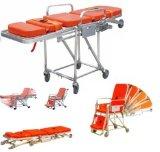 의학 알루미늄 합금 비상사태 접히는 구급차 휠체어 들것