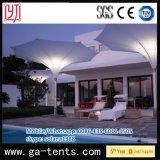 私用庭のための常置鉄骨構造の正方形の景色の傘の形のシェーディングのテント