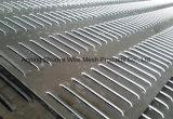 Plaque en tôle perforée en aluminium perforée en aluminium ondulé