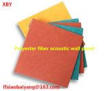 Painel de teto do painel de parede do painel acústico de fibra de poliéster da placa da parede interior