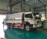20m3 comprime camión compactador de basura, FAW camión de basura