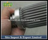 Filtro tecido plissado do cartucho do aço inoxidável de engranzamento de fio