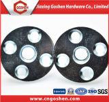 En acier au carbone de l'écrou à tête ronde de type T avec 4 trous