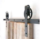 黒い木の滑走の納屋の大戸のハードウェアの鋲システムドアのハードウェア