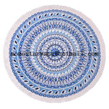 Serviette de plage imprimée en polyester poli circulaire