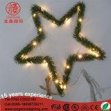 Luz de Natal plástica do cobre do floco de neve da estrela do ouropel do diodo emissor de luz para a decoração