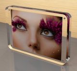 Schreibtisch-transparente Acrylfoto-Blöcke u. magnetische Foto-Rahmen