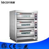 Cozimento elétrico industrial do pão da padaria do forno de 3 bandejas da plataforma 6