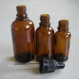 Frasco de petróleo essencial de vidro do frasco de petróleo essencial do tubo de ensaio 5ml do conta-gotas