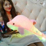 Giocattolo d'ardore variopinto del delfino della peluche del giocattolo della peluche degli animali farciti del LED