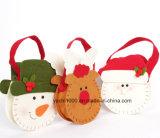 Sac de bonhomme de neige et de cerf de Noël avec tissu de feutre