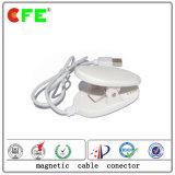 Connettore magnetico bianco 4pin con il cavo del USB per la barriera di sicurezza