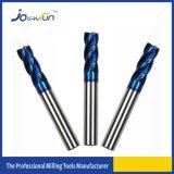 Cortador de trituração do carboneto do sólido de HRC 65 com 4 flautas