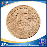 Moneta ovale d'ottone antica promozionale con smalto molle (Ele-C028)