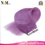 卸し売り製品の毛の高品質のバージンのRemyの人間の毛髪テープ毛の拡張PUテープ毛