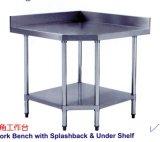 201/304 Lijst van het Werk van het Roestvrij staal Commerciële met Backsplash (CZ120TK)
