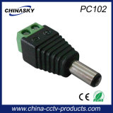 Cctv-Energien-Kamera männlicher Gleichstrom-Verbinder mit Schrauben-Terminal (PC102)
