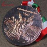 Medaglie in lega di zinco di Olimpiadi del metallo 3D con la sagola