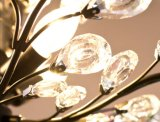 Indicatore luminoso a cristallo del lampadario a bracci del mini metallo della cucina di stile 3-Ights dell'America in cristallo libero per sala da pranzo, Dia32cm H44cm