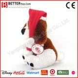 Jouet mou de peluche de crabot bourré par ornement de Noël pour le cadeau