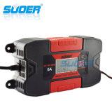 Suoer 12V 6A Intelligent Portable Smart Fast Battery Charger para bateria recarregável (DC-W1206A)