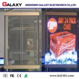 Caliente-Vendiendo P3.75/P5/P7.5/P10 a todo color transparente/vidrio/pantalla de visualización video de la ventana/de la cortina LED/pared para hacer publicidad