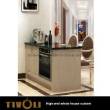 白い台所は食器棚のフルハウスのキャビネットの家具の習慣Tivo-047VWを設計する