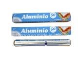Rolo da folha de alumínio um comprimento 30.5 Cm de 7.62 M largamente com o cortador na caixa