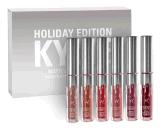 Venda por atacado da fábrica da edição do feriado do batom 6PCS de Kylie Jenner da oferta da fábrica