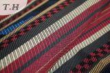 Tissu mou et excellent du polyester 100% de Bourgogne de sofa par 230GSM