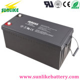 3years保証が付いている再充電可能な太陽エネルギーのゲル電池12V200ah