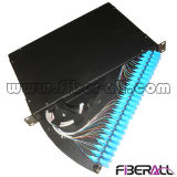 Tipo de deslizamiento Fibra Patch Panel Rack montado Metal 1u 19 ""