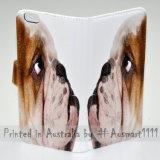 voor Oppo R7 R9s R11 - de Dekking van het Geval van de Telefoon van de Portefeuille van de Tik van het Af:drukken van het Portret van de Hond