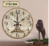 Vintage украшения старинных классический дизайн у Эйфелевой Башни MDF деревянные таблички бумаги для печати Настенные часы