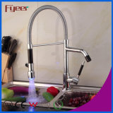 Fyeer High Quality Double Sprayer LED torneira da pia da cozinha