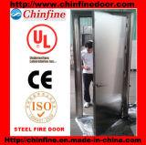 Porta corta-fogo de aço inoxidável com BS e UL (CF-F011)