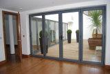 Двойные стекла алюминиевая рама дверная рама перемещена распашной двери