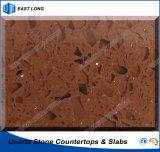 Opgepoetste Kunstmatige Steen voor de TegenTafelbladen van Bovenkanten met SGS Rapport (de kleuren van het Kwarts)