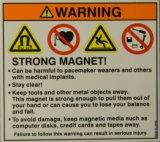 Sicurezza & etichette di avvertimento stampate abitudine