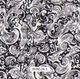 pellicole di stampa di Hydrographics del reticolo di disegno del fiore del nero di larghezza di 0.5m per i punti e le parti esterne dell'automobile e l'uso quotidiano (BDN534-5)