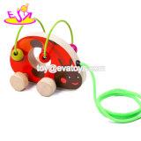 Новые популярные мультфильм деревянный цыпленок потяните игрушки для малышей W05b162