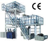 Extrudeuse complexe 3 couches filmé PE avec boîte de vitesses endurcissée, vis et machine à enrouler 38CrMoAl