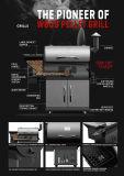 Machine extérieure de gril de BBQ de charbon de bois commercial