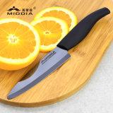 """4.5 """"ミラーの黒い陶磁器の実用的なナイフのフルーツ野菜のナイフ"""