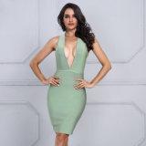 Le donne di estate 2017 del vestito dalle donne anneriscono il vestito profondo sexy dal collo di V