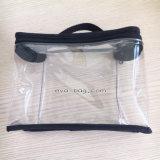Sac à main en plastique réutilisable en PVC à couture pour kit de toilette