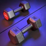 Black Rubber Coated Dumbbell Sets Gym Equipment Dumbbell