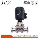 Válvula de diafragma sanitária da venda quente com atuador plástico