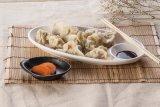 Melamina Dumpling Dish / Placa con plato de salsa (WT884)